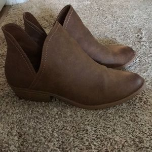 Tan ankle booties - size 8.5